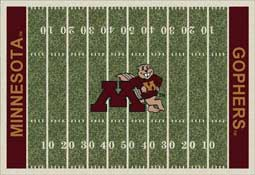 University of Minnesota Golden Gophers Football Field Area Rug
