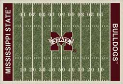 Mississippi State University Bulldogs Football Field Area Rug