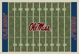 University of Mississippi Rebels Football Field Area Rug