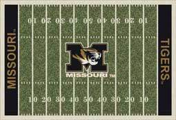 University of Missouri Tigers Football Field Area Rug