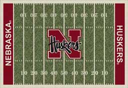 University of Nebraska Huskers Football Field Area Rug