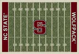 North Carolina State University Wolfpack Football Field Area Rug