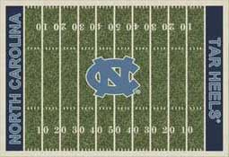 University of North Carolina Tar Heels Football Field Area Rug