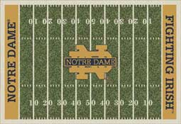 University of Notre Dame Fighting Irish Football Field Area Rug