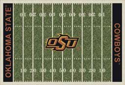 Oklahoma State University Cowboys Football Field Area Rug