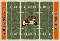 Oregon State University Beavers Football Field Area Rug