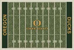 University of Oregon Ducks Football Field Area Rug
