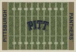 University of Pittsburgh Panthers Football Field Area Rug