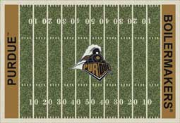 University of Purdue Boilermakers Football Field Area Rug