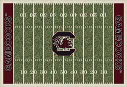 University of South Carolina Gamecocks Football Field Area Rug