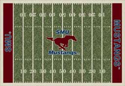 Southern Methodist University Mustangs Football Field Area Rug