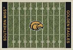 University of Southern Mississippi Golden Eagles Football Field Area Rug