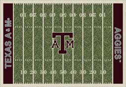 Texas A&M University Aggies Football Field Area Rug