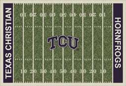 Texas Christian University Horned Frogs Football Field Area Rug