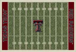 Texas Tech University Red Raiders Football Field Area Rug