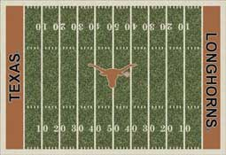 University of Texas Longhorns Football Field Area Rug
