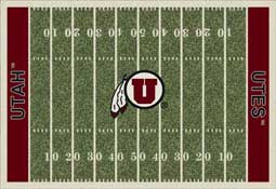 University of Utah Utes Football Field Area Rug