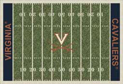 University of Virginia Cavaliers Football Field Area Rug