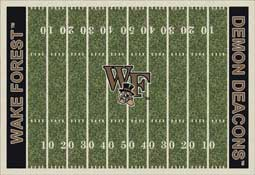 Wake Forest University Demon Deacons Football Field Area Rug