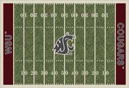 Washington State University Cougars Football Field Area Rug