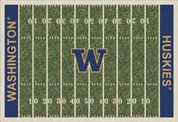 University of Washington Huskies Football Field Area Rug
