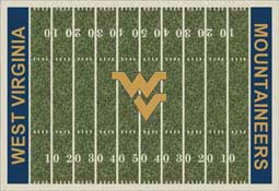 West Virginia University Mountaineers Football Field Area Rug