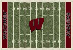 University of Wisconsin Badgers Football Field Area Rug