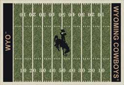 University of Wyoming Cowboys Football Field Area Rug