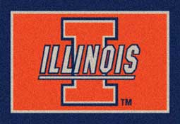 University of Illinois Collegiate Rug and Mat