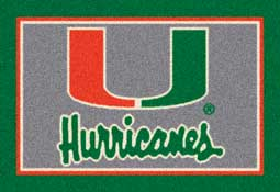 University of Miami Hurricanes Collegiate Rugs and Mats