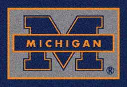 University of Michigan Wolverines Collegiate Rugs and Mats