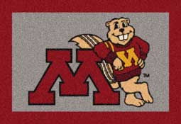 University of Minnesota Golden Gophers Collegiate Rugs and Mats
