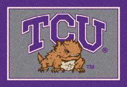 Texas Christian University Horned Frogs Collegiate Rugs and Mats