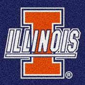 University Of Illinois College Area Rugs Mats Amp Carpet