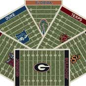 Superior College Football Field Rugs